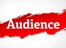 Publikums-rote Bürsten-Zusammenfassungs-Hintergrund-Illustration stock abbildung