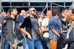 Publikumsuhr ein Konzert an Ton-Festival 2014 Heinekens Primavera Stockfoto
