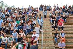 Publikumsuhr ein Konzert an Ton-Festival 2014 Heinekens Primavera Lizenzfreies Stockfoto