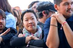 Publikumsuhr ein Konzert an Ton-Festival 2014 Heinekens Primavera Stockfotos