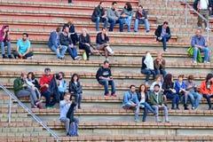Publikumsuhr ein Konzert an Ton-Festival 2014 Heinekens Primavera Stockbilder