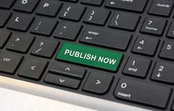 Publish Now on Keyboard online blog concept.  royalty free stock photography