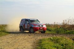 Published on November 5, 2005 the. Tout terrain was held for the rice fields of Vercelli. Very challenging race for different cable types and competitive. The Stock Photo