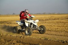 Published on November 5, 2005 the. Tout terrain was held for the rice fields of Vercelli. Very challenging race for different cable types and competitive. The Stock Photos