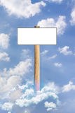 Published in the sky. Banner to fill the sky. Used with any text Royalty Free Stock Photography