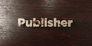 Publisher - grungy wooden headline on Maple  - 3D rendered royalty free stock image Stock Photos