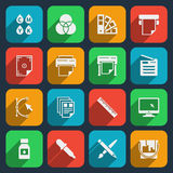 Publisher and printing house icons Royalty Free Stock Photo