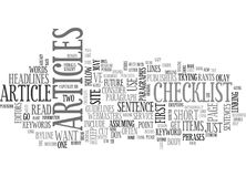 A Publisher S Rant A Checklist Of Items Word Cloud Royalty Free Stock Photography