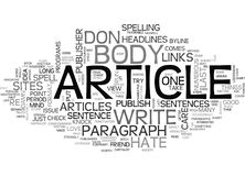 A Publisher S Rant Why I Hate The Body Of Your Article Word Cloud Stock Photos