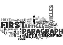 A Publisher S Rant Why I Hate Your First Paragraph Word Cloud Royalty Free Stock Photography