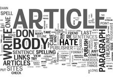 A Publishers Rant Why I Hate The Body Of Your Article Word Cloud. A PUBLISHERS RANT WHY I HATE THE BODY OF YOUR ARTICLE TEXT WORD CLOUD CONCEPT Stock Image