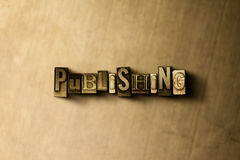Free PUBLISHING - Close-up Of Grungy Vintage Typeset Word On Metal Backdrop Stock Photos - 86492733