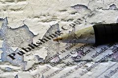 Publishing contract Stock Photography