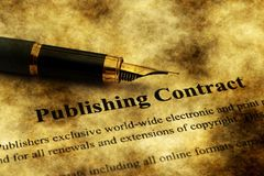 Free Publishing Contract Grunge Concept Royalty Free Stock Images - 167009259