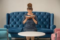 Publishing. Forum of publishers. Book reading concept. stock images