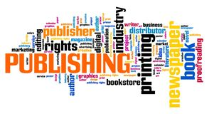 Publishing word cloud royalty free stock images