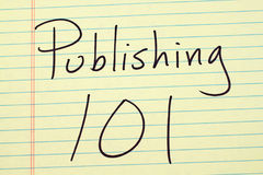 Publishing 101 On A Yellow Legal Pad. The words `Publishing 101` on a yellow legal pad Stock Photography