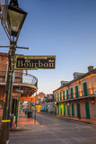 Pubs and bars with neon lights  in the French Quarter, New Orlea Stock Image