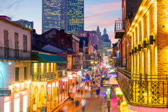 Pubs and bars with neon lights in the French Quarter, New Orleans stock images