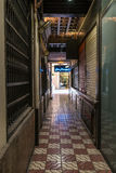 Pubs and Beer bars in the Bar Pasajes in Barcelona Stock Photography