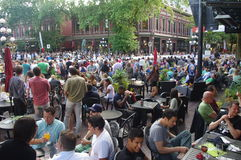 Pubs and restaurants at Gastown Grand Prix Royalty Free Stock Photo