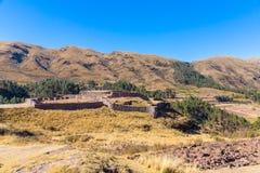Puca Pucara, αρχαίο φρούριο Inca, Cuzco, Περού. Στοκ Εικόνες