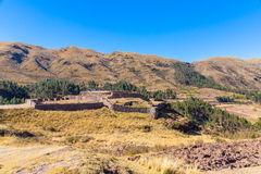 Puca Pucara, Ancient Inca fortress, Cuzco, Peru. Stock Photo