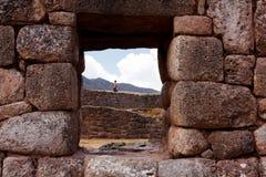 Puca Pucara Military Ruins at Cusco, Peru Stock Image