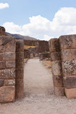 "Puca Pucara Military Ruins at Cusco, Peru. Puca Pucara, which means ""red fort, was an Inca military and administrative facility Royalty Free Stock Images"