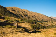 Puca Pucara near Sacsayhuaman Royalty Free Stock Photos