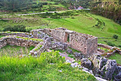 Puca Pucara offers stunning views of the Cusco Valley stock photo