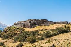 Puca Pucara ruins in the peruvian Andes at Cuzco Peru Royalty Free Stock Photo