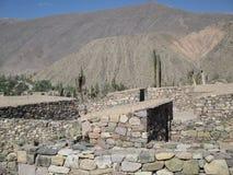Pucarà ¡ de Tilcara, Jujuy阿根廷的美丽的景色 免版税库存照片