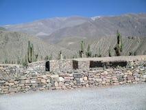 Pucarà ¡ de Tilcara, Jujuy阿根廷的美丽的景色 免版税库存图片