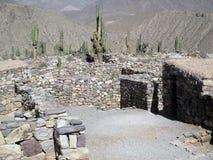 Pucarà ¡ de Tilcara, Jujuy阿根廷的美丽的景色 库存图片