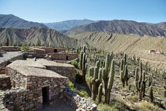 The Pucara de Tilcara pre-inca fortification national monument. Jujuy province, Argentina royalty free stock photos