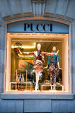 Pucci's clothing store at Paris on France Stock Photos