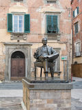 Puccini Statue Lucca Italy Stock Photography