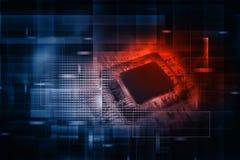 Puce électronique de circuit intégré Photos libres de droits