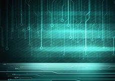 Puce conceptuelle de circuit d'image de Digital sur le mur vert Photos libres de droits