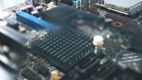 Puce d'ordinateur et plan rapproché de microprocesseur