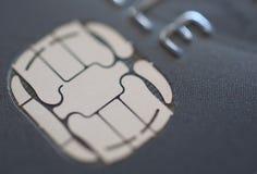 Puce de carte de crédit Photographie stock