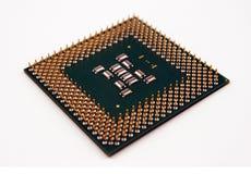 Puce de CPU image stock