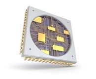 Puce de CPU Comuter, vue intérieure Images stock