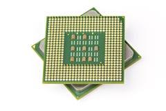 Puce de processeur d'unité centrale de traitement d'ordinateur Photographie stock libre de droits
