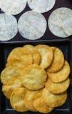 Puce de tortilla croustillante, casse-croûte croquant Photo libre de droits