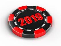 Puce du casino 2019 illustration stock