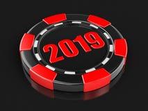 Puce du casino 2019 illustration de vecteur