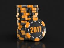 Puce du casino 2017 Photo libre de droits