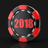 Puce du casino 2018 illustration libre de droits